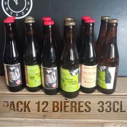 Pack de 12 bières 33cl