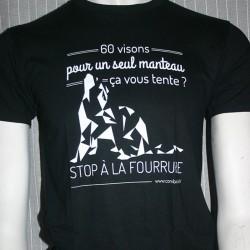 Tee shirt Stop à la fourrure
